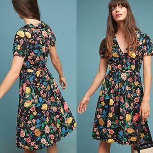 Anthropologie Maeve Bloedel floral butterfly dress